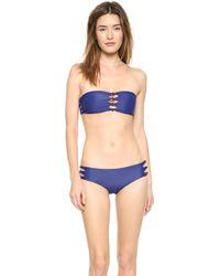 Mikoh Swimwear Monaco Bikini Top - Dark Sea - Lyst