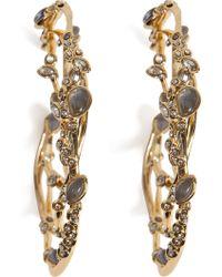 Alexis Bittar Imperial Crystal Lace Hoop Earrings - Lyst
