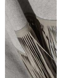Finds -  Barbajada Leather-fringed Cashmere Shawl - Lyst