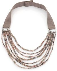 Peserico - Mutlistrand Beadaed Necklace - Lyst