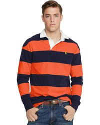 Polo Ralph Lauren Custom-fit Striped Rugby - Lyst