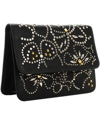 Valentino Floral Studded Mini Clutch Floral Studded Mini Clutch - Lyst