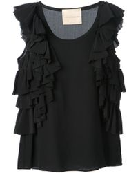 Erika Cavallini Semi Couture Ruffle Detailed Top - Lyst