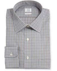 Ike Behar Performance 100 Checked Poplin Dress Shirt - Lyst