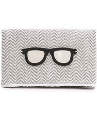 Koku | Vivia Clutch - Grey | Lyst