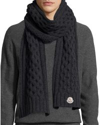 Knitting Pattern Mens Chunky Scarf : Mens Moncler Scarves Lyst
