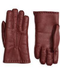 Brooks Brothers Shearling Gloves - Lyst