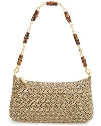 Eric Javits 'Bulu - Squishee' Woven Shoulder Bag brown - Lyst