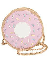 Nila Anthony - 'doughnut' Faux Leather Crossbody Bag - Lyst