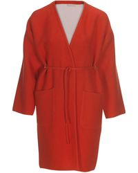 Stefanel Cotton Coat With Adhesive Strips - Lyst