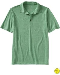 Banana Republic Factory Tri Blend Solid Polo Irish Clover - Lyst