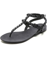 Ash Mylo Studded Sandals - Black - Lyst