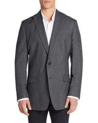 Calvin Klein | Slim-fit Micro Checkered Silk & Wool Sportcoat | Lyst