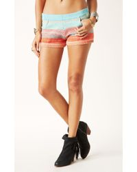 Goddis Striped Knit Shorts - Lyst