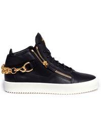 Giuseppe Zanotti | 'may London' Chunky Chain Leather Sneakers | Lyst