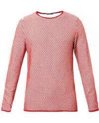J.W. Anderson Chequered-Knit Sweater - Lyst