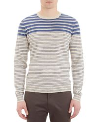 Barneys New York Mixedstripe Sweater - Lyst