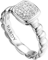 John Hardy Petite Pave Ring Diamond - Lyst