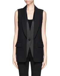 Alexander Wang Double Shawl Lapel Vest Jacket - Lyst