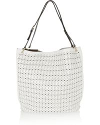Tod's Signature Secchiello Big Traforo Perforated Leather Tote - Lyst