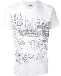 Diesel Rowing Print Tshirt - Lyst