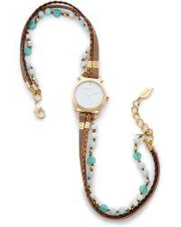 Sara Designs - Braided Wrap Watch - Taupe - Lyst