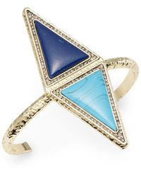 House Of Harlow Faux Gemstone Double Triangle Bracelet - Lyst
