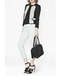 French connection Salt and Pepper Cotton Zip Jacket - Lyst