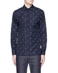 Neil Barrett | Star Print Poplin Shirt | Lyst