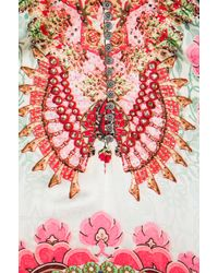 Camilla Portable Paradises Button Up Kaftan in Pink - Lyst