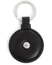 Lacoste Club Essentials Small Croc Black Leather Key Ring - Lyst