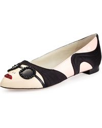 Alice + Olivia Stacey Face Ballet Flat - Lyst