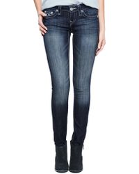 True Religion Hand Picked Skinny Natural Chain Logo - Lyst