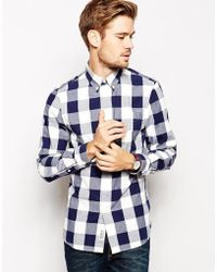 Jack Wills - Shirt with Oversized Gingham Check - Lyst