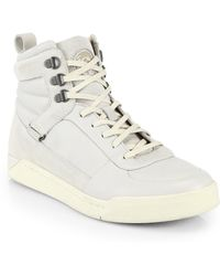 Diesel Tempus Leather Suede Hightop Sneakers - Lyst
