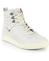 Diesel Tempus Leather Suede Hightop Sneakers - Lyst
