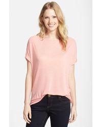 Pleione Roll Sleeve Tee pink - Lyst