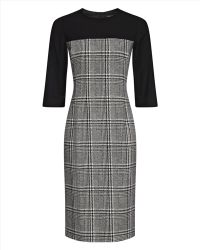 Jaeger - Wool Houndstooth Dress - Lyst