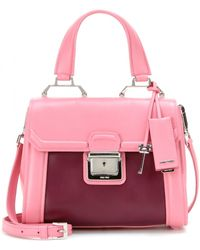 Miu Miu Structured Leather Shoulder Bag - Lyst