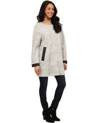 Calvin Klein Jeans   Woolly Cocoon Jacket With Perf Trim   Lyst