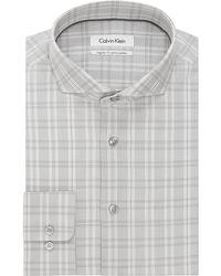 Calvin Klein Regular Fit Plaid Dress Shirt - Lyst