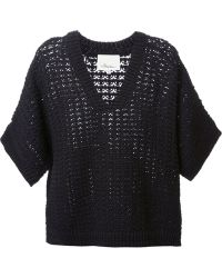 3.1 Phillip Lim Short Sleeved Sweater - Lyst