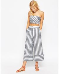 ASOS | Premium Multiway Stripe Culottes Co-ord | Lyst