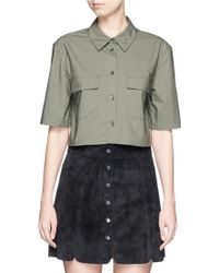 Equipment | Cropped Cotton Poplin Shirt | Lyst