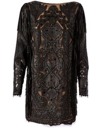Emilio Pucci Ornate Panelled Shift Dress - Lyst