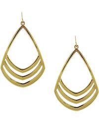 Vince Camuto - Goldtone Open Teardrop Earrings - Lyst