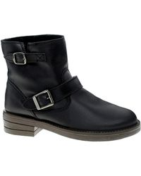 Asos Astronaut Leather Biker Ankle Boots - Lyst