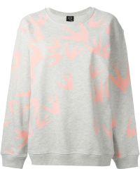 McQ by Alexander McQueen Swallow-Appliqué Cotton Sweatshirt - Lyst
