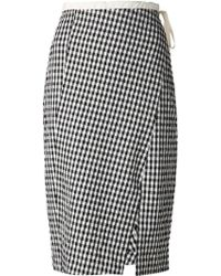 Altuzarra Waist Tie Gingham Panelled Skirt - Lyst