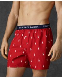 Ralph Lauren Polo Mens Polo Player Woven Boxers - Lyst